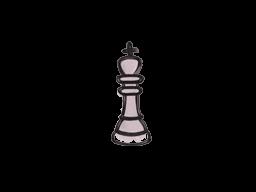 Запечатанный граффити | Шахматный король (Траншейный розовый)