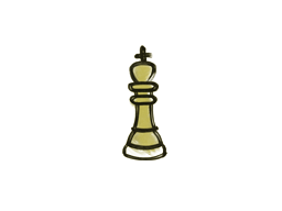 Запечатанный граффити | Шахматный король (Дорожный желтый)