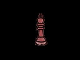 Запечатанный граффити | Шахматный король (Кровавый красный)