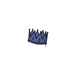 Sealed Graffiti   King Me (SWAT Blue)