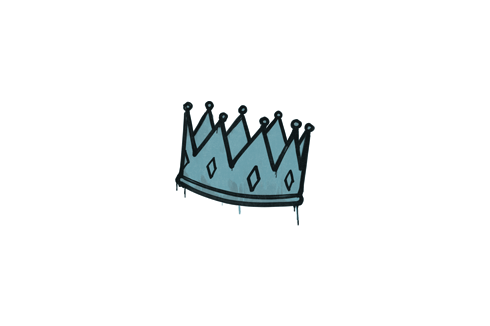 Sealed Graffiti | King Me (Wire Blue) Prices