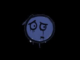 Запечатанный граффити   Волнушка (Полицейский синий)