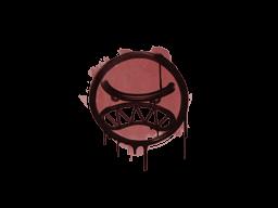 Запечатанный граффити | Вредина (Кровавый красный)