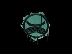 Запечатанный граффити | Вредина (Лягушачий зелёный)