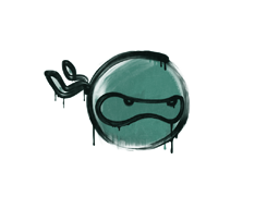 Zalakowane graffiti | Ninja (żabia zieleń)