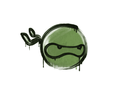 Запечатанный граффити | Ниндзя (Боевой зелёный)
