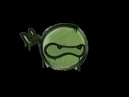 Zalakowane graffiti | Ninja (bitewna zieleń)