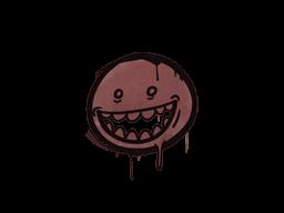 Sealed Graffiti   Mr. Teeth (Brick Red)
