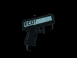 Запечатанный граффити | Пистолетка (Пластиковый синий)
