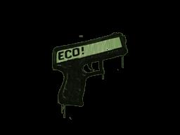 Запечатанный граффити | Пистолетка (Боевой зелёный)