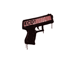 Запечатанный граффити   Пистолетка (Кровавый красный)