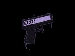 Запечатанный граффити | Пистолетка (Жестокий фиолетовый)