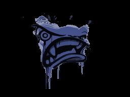 Запечатанный граффити | Ярость (Полицейский синий)