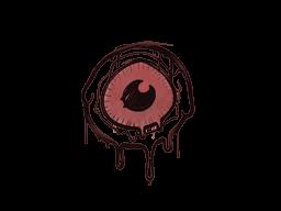 Запечатанный граффити   Глазок (Кровавый красный)