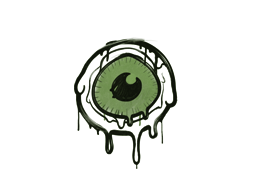 Запечатанный граффити   Глазок (Боевой зелёный)