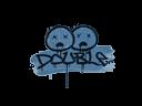 Sealed Graffiti | Double (Monarch Blue)