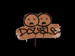 Запечатанный граффити | Минус два (Тигровый оранжевый)