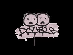 Запечатанный граффити | Минус два (Траншейный розовый)