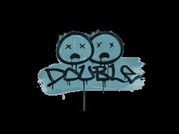 Запечатанный граффити | Минус два (Пластиковый синий)