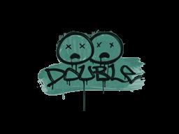 Запечатанный граффити | Минус два (Лягушачий зелёный)