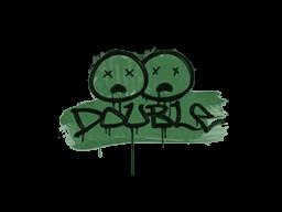 Запечатанный граффити | Минус два (Лесной зелёный)