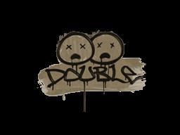 Запечатанный граффити   Минус два (Пыльный коричневый)