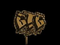 Zalakowane graffiti | GTG (pustynny bursztyn)