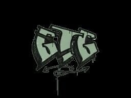 Запечатанный граффити | Мне пора (Денежный зелёный)