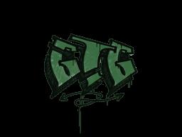 Запечатанный граффити | Мне пора (Лесной зелёный)