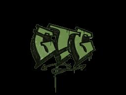 Запечатанный граффити | Мне пора (Боевой зелёный)