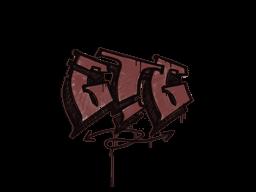 Zalakowane graffiti | GTG (ceglana czerwień)