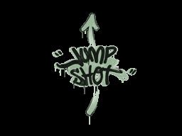 Запечатанный граффити   Выстрел в прыжке (Денежный зелёный)
