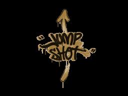 Запечатанный граффити | Выстрел в прыжке (Пустынный янтарный)