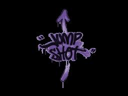 Запечатанный граффити   Выстрел в прыжке (Жуткий фиолетовый)