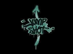 Запечатанный граффити | Выстрел в прыжке (Лягушачий зелёный)