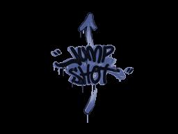 Запечатанный граффити | Выстрел в прыжке (Полицейский синий)