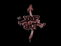 Запечатанный граффити | Выстрел в прыжке (Кирпичный красный)