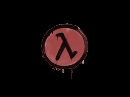 Запечатанный граффити | Лямбда (Кровавый красный)