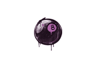 Sealed Graffiti   8-Ball (Bazooka Pink)