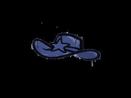 Запечатанный граффити | Шериф (Полицейский синий)