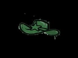 Запечатанный граффити | Шериф (Лесной зелёный)