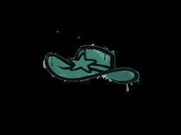 Запечатанный граффити | Шериф (Лягушачий зелёный)