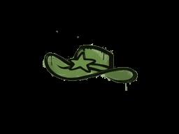 Запечатанный граффити | Шериф (Боевой зелёный)