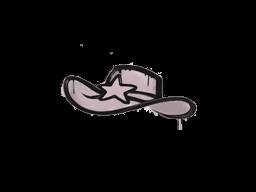 Zalakowane graffiti | Szeryf (wieprzowy róż)