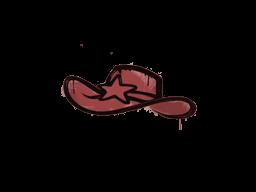 Запечатанный граффити | Шериф (Кровавый красный)