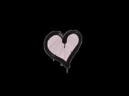 Запечатанный граффити | Сердце (Траншейный розовый)