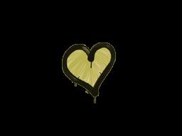 Запечатанный граффити | Сердце (Дорожный желтый)