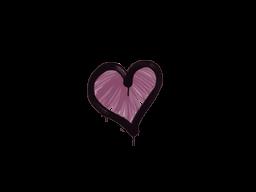 Запечатанный граффити | Сердце (Нежный розовый)