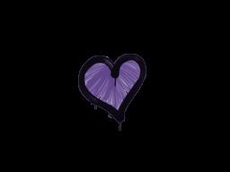Запечатанный граффити | Сердце (Жуткий фиолетовый)