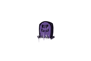 Sealed Graffiti Tombstone Monster Purple